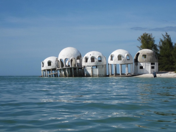 """The Castle"", on Cape Romano, a house built in the 1969's or 70's...made out of foam domes."
